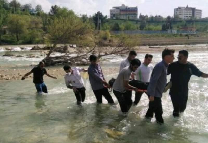 غرق شدن جوان ۳۳ ساله در رودخانه بشار