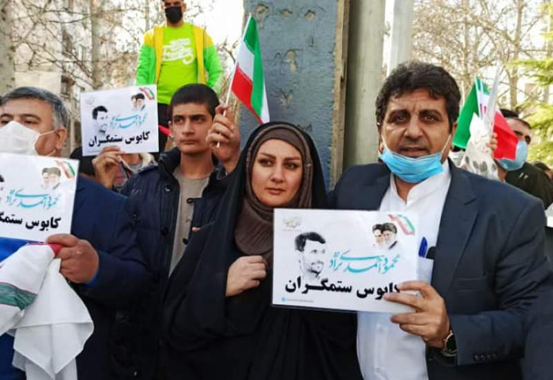 (ویدئو) تجمع در نارمک و دعوت انتخاباتی از احمدینژاد